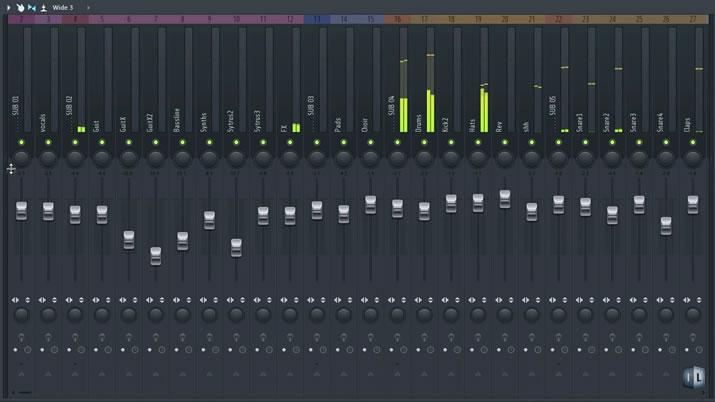 FL Studio12のミキサー