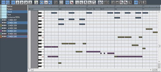 Ability MIDI編集画面